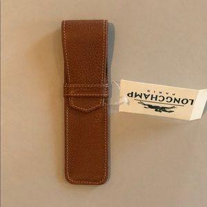 Longchamp Leather Pen Case. NWT